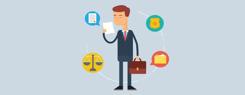 векторный рисунок юриста