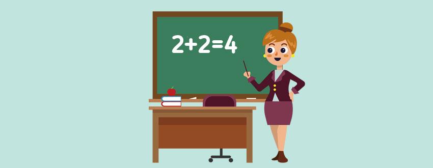 векторный рисунок учителя 1 класса